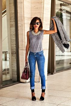 Fashion Cognoscente: Fashion Cognoscenti Inspiration: Spring Distressed Denim Staples