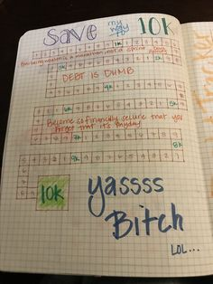 Save 10k with my BuJo Journal Entries, Investing, Bullet Journal, Office Supplies, Notebook, Desk Supplies, The Notebook