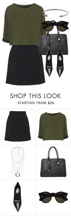 """""""Untitled #3337"""" by olivia-mr ❤ liked on Polyvore featuring Topshop, MANGO, Alexander McQueen, Yves Saint Laurent, Beau Coops and Michael Kors"""