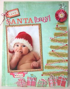 baby scrapbooking, Christmas scrapbook layout