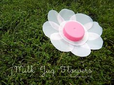 Milk Jug Flowers Summer Garden Craft | Kid Things
