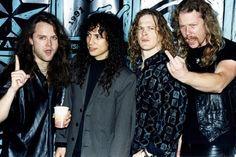(*´Д`*) [drúːl] — Metallica in 1991 (Sipa Press) Music Stuff, My Music, Kirk Metallica, Jason Newsted, Robert Trujillo, Kirk Hammett, Wattpad, James Hetfield, Fantastic Four