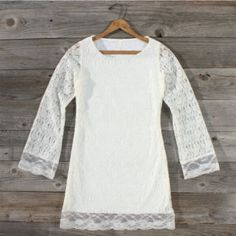 Winter Silence Lace Dress, Sweet Women's Country Clothing