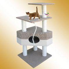 50 Cat Tree House Condo Scratcher Post Furniture