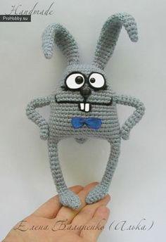 Вяжем крючком игрушку Заяц Бо МК