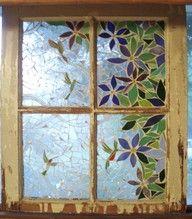 mosaic old window