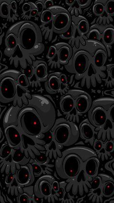 Ghost Skulls Halloween Night - iPhone Wallpapers