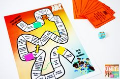 Students have some fun with this cool board game adapted from The Wild Card Kids!
