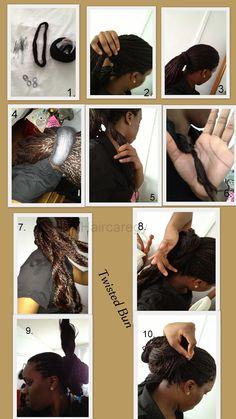 Hair Care Guyana #twistedbun #haircare #relaxedhair #guyana #relaxedhair #protectivestyle #hairstyle