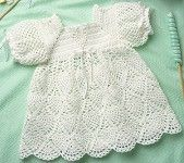 Whipped Cream Dress to Crochet for Baby Pattern ePattern