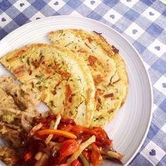 Il pranzo perfetto... farifrittata con zucchine, verza e verdure al forno... buon appetito!