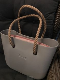 O Bag Licht Grijs - binnentas - Long Rope Handles Naturale Tote Bag, Clock, Bags, Sun, Fashion Outfits, Style, Wallet, Watch, Handbags
