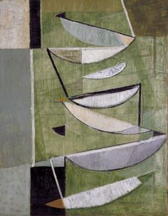 Sir Terry Frost 'Green, Black and White Movement', 1951 © The estate of Sir Terry Frost