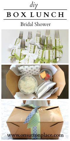 Complete how-to and sources for planning the perfect box lunch shower or party!