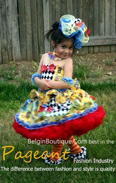 Pageant Casual Wear carnival Doll custom size 6m up to size 10yrs   model by: Krystel-Marie