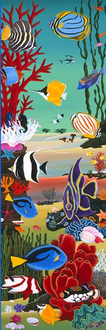 A coral reef with fishes.