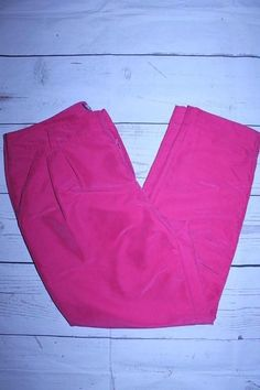 Jennifer Lopez Pants 6 Pink Button Front Cuffed Hem Modal Blend Cropped Trousers…