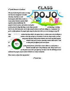 Class Dojo Parent Letter--Editable