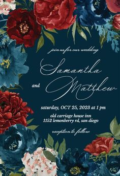 Purple Flowers - Wedding Invitation #invitations #printable #diy #template #wedding Free Wedding Invitations, Purple Wedding Flowers, Response Cards, Our Wedding, Reception, Printable, Diy, Block Prints, Bricolage