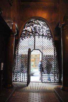 Palau Güell, entrance. Antoni Gaudi. Barcelona, Spain.