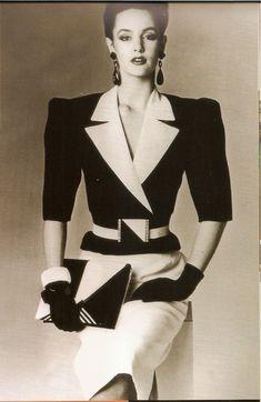 80´s fashion, power suit