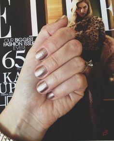 The must-have fall mani: Julep's Zelda (a rich metallic with rose undertones).