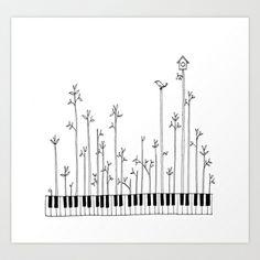 Let the music grow Art Print by Cynthia Leung