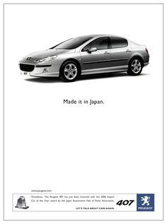 Peugeot 407: Made it in Japan