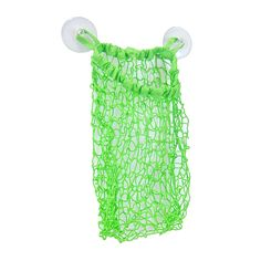 Features:  -Allows toys to get dried up faster.  -Color: Green.  -Stretchy mesh bag with 2 suction cups.  -Machine washable.  -Toy storage inside bathroom just gets more fun and neat.  Product Type: -