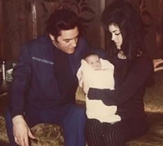"""Elvis: """"Most of my favorite memory - the birth of Lisa, or more precisely a moment when I first picked her up she was so tiny, precious and beautiful, you know I know that all babies look beautiful..."""