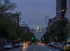 A look down East Broadway NYC by Joel Raskin
