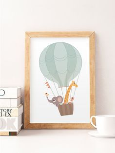 Animals wall decor Balloon print Nursery wall print by NorseKids Tiere Wanddekoration Luftballon drucken Kinderzimmer Wanddruck von NorseKids – Baby Room Art, Kids Room Art, Nursery Room Decor, Baby Art, Nursery Prints, Nursery Wall Art, Wall Art Prints, Child Room, Reproductions Murales