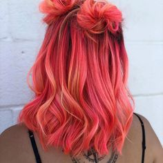 Image about girl in 🌸Colorful Hair 🍭👑🌈 by 🦋 on We Heart It pink hair inspo Cute Hair Colors, Pretty Hair Color, Hair Color Purple, Hair Dye Colors, Ombre Colour, Bright Hair Colors, Hair Color Shades, Pinterest Hair, Pinterest Account