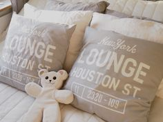 home, bedroom, decoration, pillows, grey&white