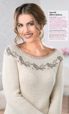 FREE knitting pattern - Yoke Bird Sweater - Let's Knit Magazine Double Knitting Patterns, Fair Isle Knitting Patterns, Vintage Crochet Patterns, Fair Isle Pattern, Sweater Knitting Patterns, Knit Patterns, Free Knitting, Knitting Magazine, Sweaters
