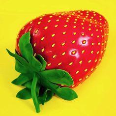 Giant Strawberry Cake | HOW TO CAKE IT Giant Strawberry, Strawberry Seed, Strawberry Cakes, Giant Cake, Giant Cupcakes, Bug Birthday Cakes, Unicorn Birthday, Birthday Ideas, Happy Birthday