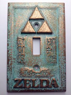 Legend of Zelda Copper Patina Light Switch Cover