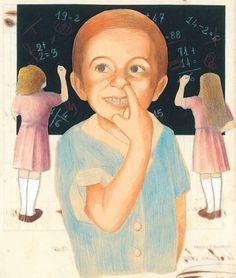 """Un'illustrazione dal nostro """"Sbagliando s'impara"""" (di Loredana Cangini/Loricangi, Edizioni Artebambini) per augurare a bambini, insegnanti e genitori un buon inizio dell'anno scolastico! Possa essere all'insegna dei libri e dell'arte :)"""