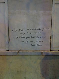 citation de Paul Eluard - Paris - France