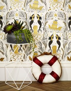 Mermaids (Gold) Wallpaper | Hygge & West