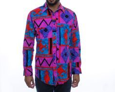 Vintage 90's colorful Wrangler shirt, western, cowboy, southwest, rodeo, Native American, tribal - Medium by AttentionSpanVintage on Etsy https://www.etsy.com/listing/259475338/vintage-90s-colorful-wrangler-shirt
