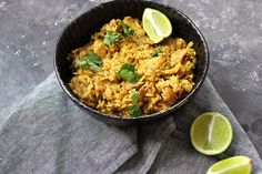 Thai flavored chicken and rice (spicy)