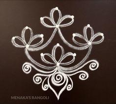 Easy And Simple Deepavali Muggu Rangoli Side Designs, Simple Rangoli Border Designs, Rangoli Designs Latest, Free Hand Rangoli Design, Small Rangoli Design, Rangoli Patterns, Rangoli Ideas, Rangoli Designs Diwali, Diwali Rangoli