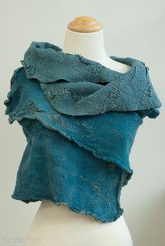 nunofelted vest, by Leah Adams