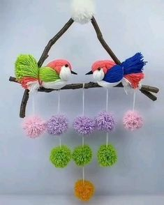 Rope Crafts, Feather Crafts, Diy Crafts For Gifts, Easy Diy Crafts, Diy Arts And Crafts, Craft Stick Crafts, Yarn Crafts, Diy Easy Embroidery, Diy Embroidery Flowers