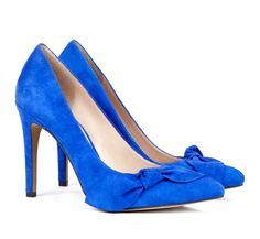 Suede bow pumps - Elisa//