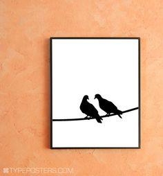 Love Birds  Mod Art Print by TypePosters on Etsy, $15.00