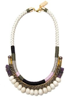 Lizzie Fortunato Jewels White Rope and Bead Necklace