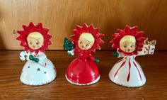 Christmas vintage holt Howard flower girl bells