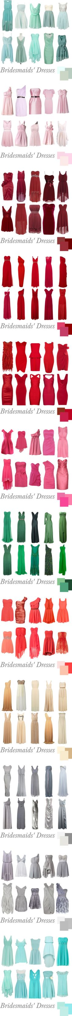 What an awesome chart for bridesmaids' dresses.